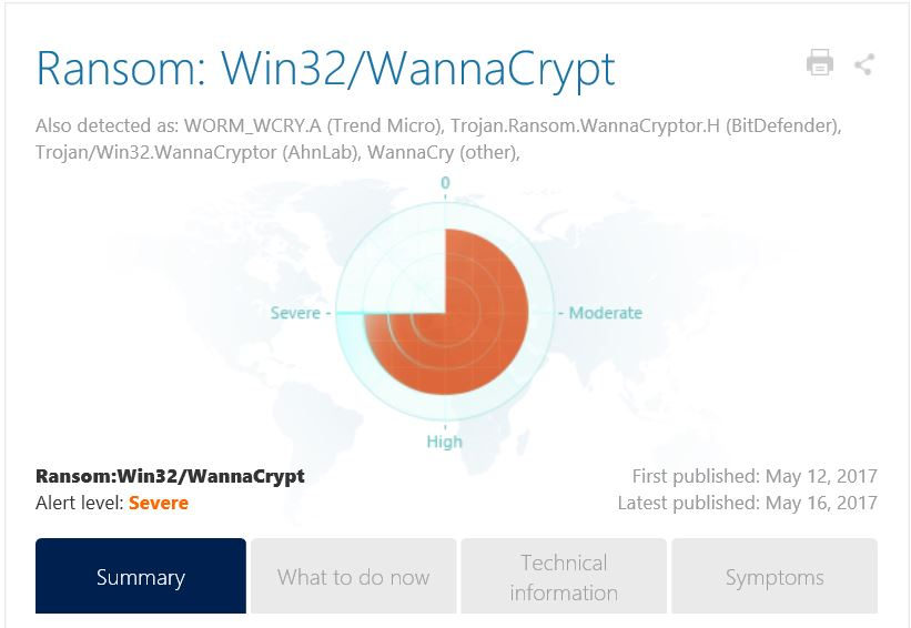 ランサムウェア「WannaCrypt」への対処方法