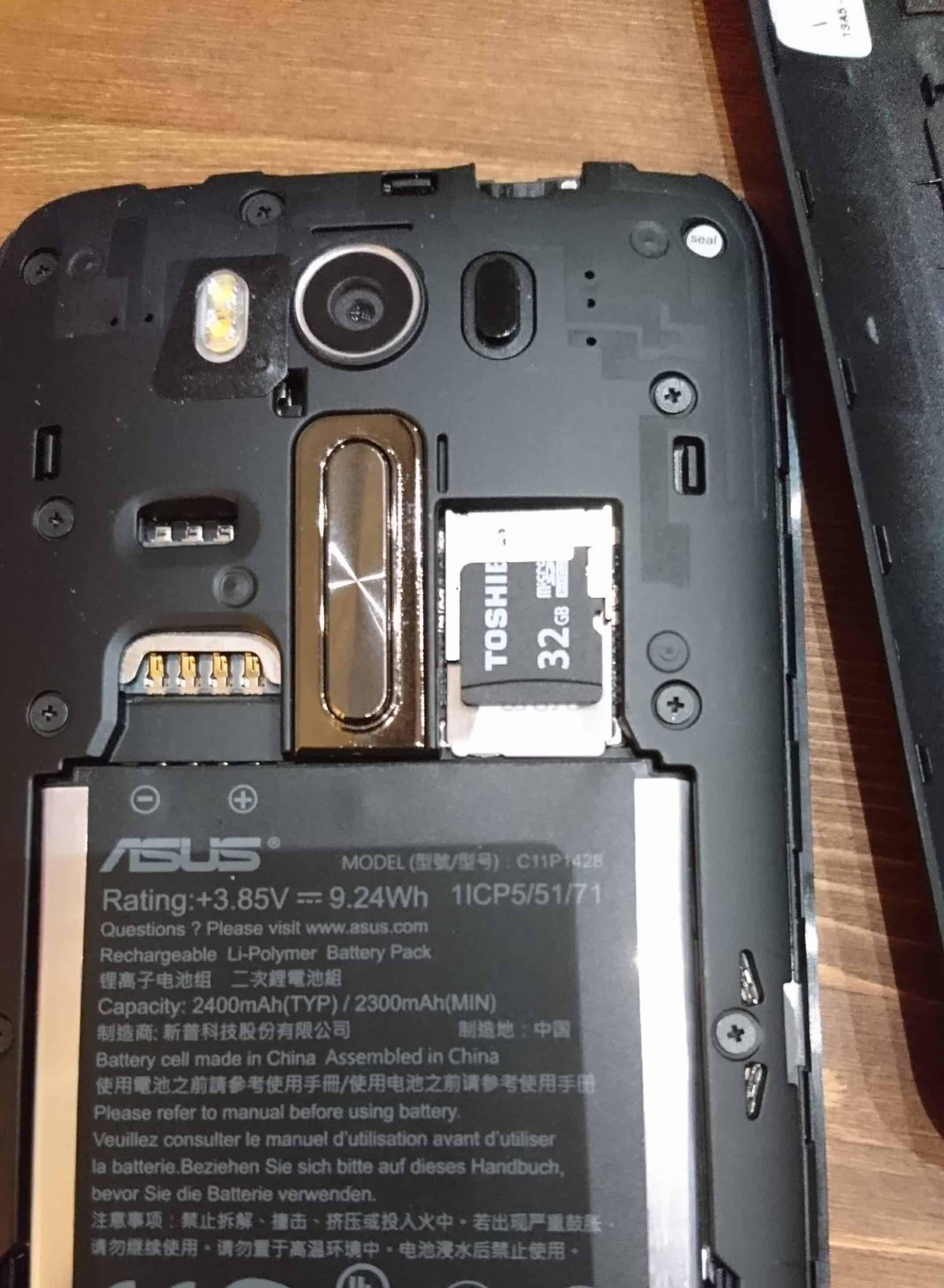 ASUS ZenFone2Laser へSDカードを追加